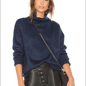 Minkpink Florentine Funnel Jumper Sweater in Navy